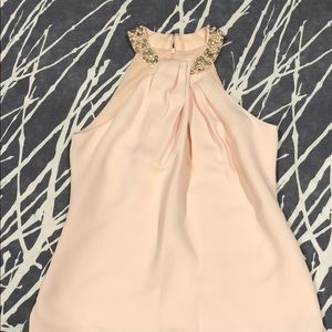 Baby pink jeweled top